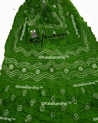 MehndiGreen gaji silk bandhani dupatta