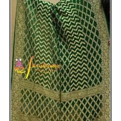 Pure Crape Silk Bandhani Dupatta Green