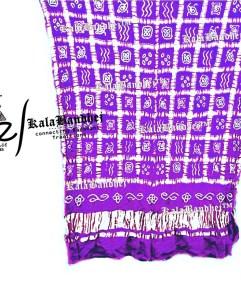 purple Gajisilk Gharchola dupatta