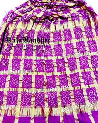 Megenta Cotton Gharchola saree