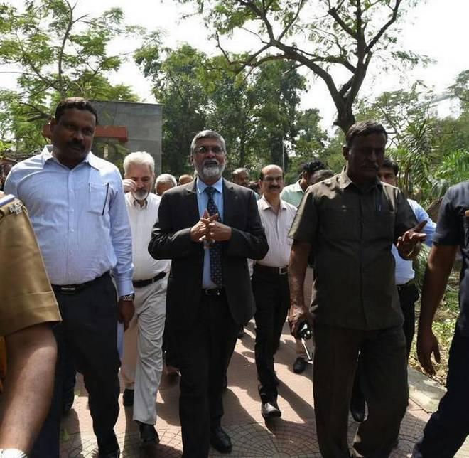Central team visits Gaja cyclone damage