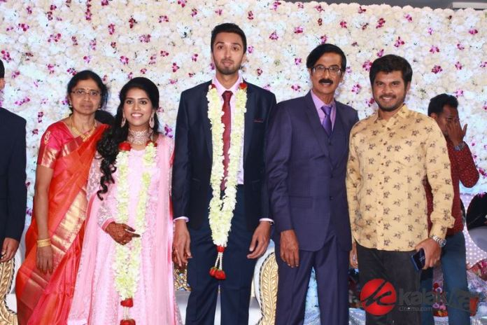 Director Manobala Son Harish weds Priya Wedding Reception Photos