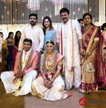 Ram Charan & Upasana at Venkatesh Daughter Aashritha Wedding Photos