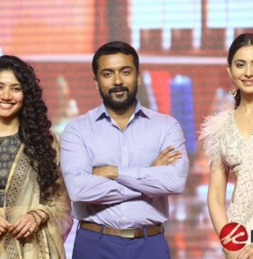 NGK Pre Release Function held at Hyderabad. Suriya, Rakul Preet Singh, Sai Pallavi, Director Selvaraghavan at the event.
