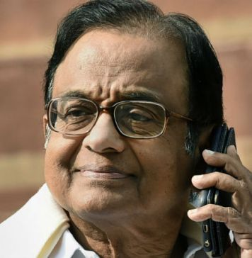 P Chidambaram mobile phone Switched Off