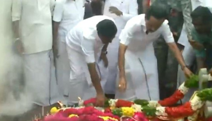 DMK leader Stalin pays tribute to baby Surjit