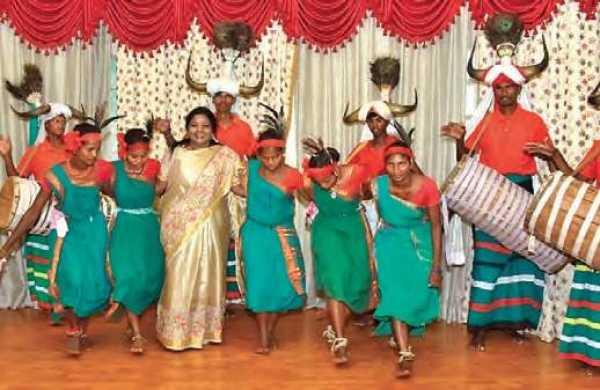 Telangana Governor Tamilisai Soundararajan Dance with Tribal People