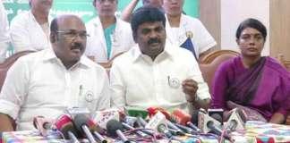 Health Minister Vijayabaskar report on dengue fever