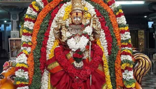 Sapta conspiracy in the worship of Ambal