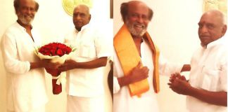 Former Union Minister Pon Radhakrishnan speaks to Rajinikanth