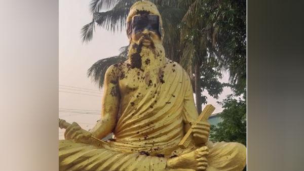 Thiruvalluvar statue in Thanjavil Pillaiyarpatti
