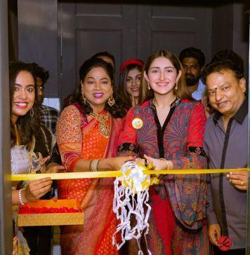 RJ Balaji, Sayyeshaa, Yashika Anand, And Athulya at Yolo Salon Launch