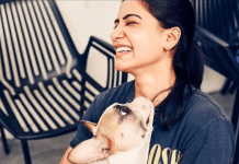 Samantha Play With Dogs