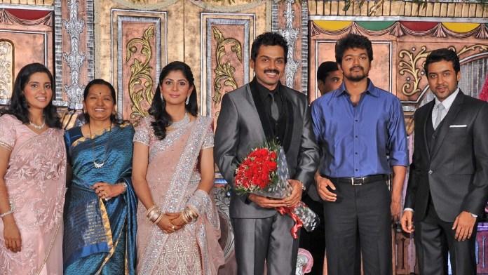 Thalapathy Vijay in Karthi Marriage