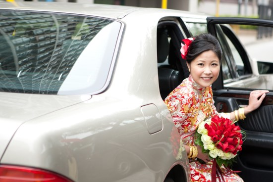 Kalamakeup bride Daphne getting ready for Chinese Tea Ceremony at Harbour Front Hotel, H.K.
