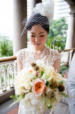 Kalamakeup for bride Mizue's wedding at Heritage 1881, H.K.