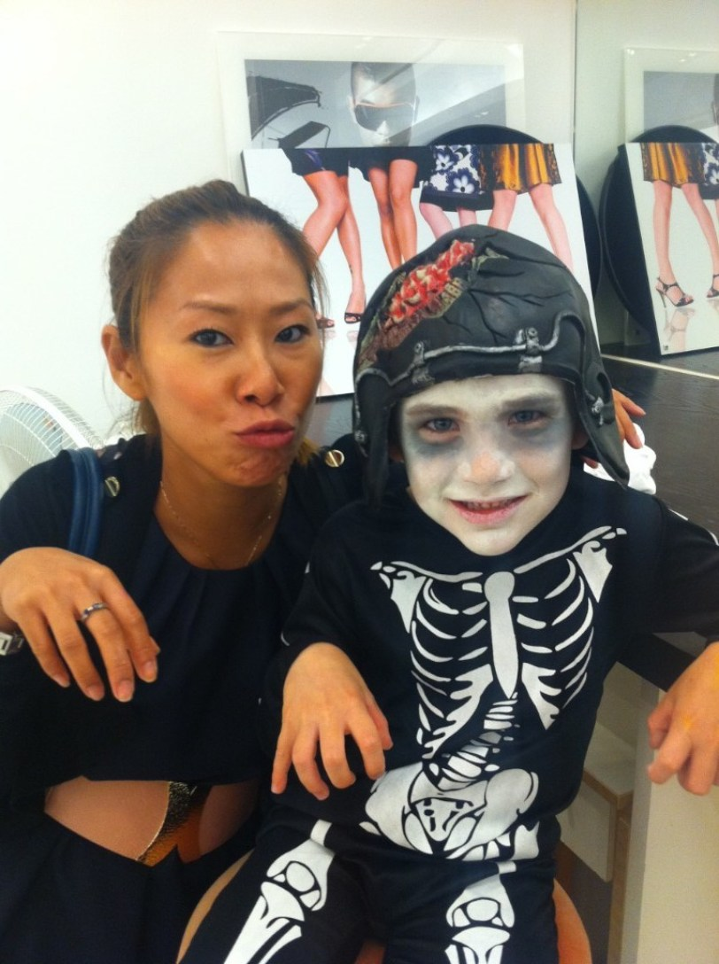 Kalamakeup face painting for kids for halloween shoot