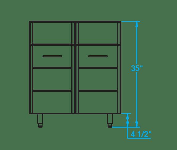 arcadia 30 inch sink base cabinet
