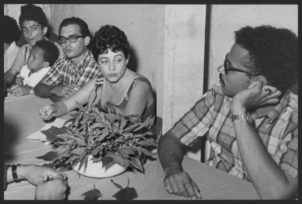 Cordero and Proyecto members at a press conference, following their arrest in February, 1968 (Courtesy of the Schlesinger Library, Radcliffe Institute, Harvard University).