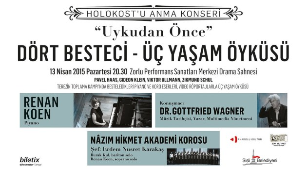 Holokost'u Anma Konseri 13 Nisan'da Zorlu PSM Drama Sahnesi'nde!