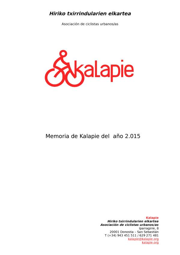 KALAPIE MEMORIA 2015