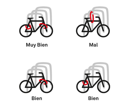 Como atar la bici con un solo candado