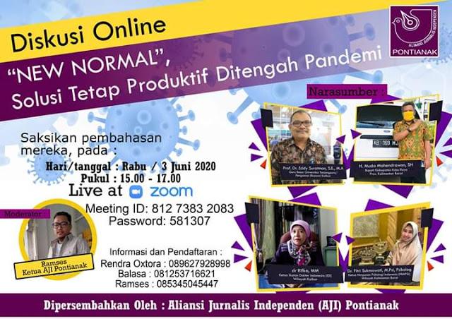 AJI Pontianak sukses gelar diskusi Online tentang New Normal