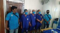 3 tersangka Penyelundupan 1 kg sabu dari Kalbar ke Kalteng yang di amankan BNNP Kalbar, Selasa (2/6/2020)