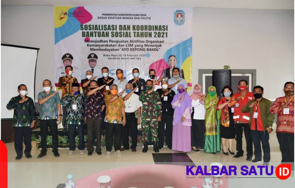 Kesbangpol Kubu Raya Sosialisasi dan Koordinasi Bantuan Sosial 2021