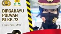 FREE DOWNLOAD Twibbon Polwan 1 September 2021, Link Twibbon POLWAN Ke-73