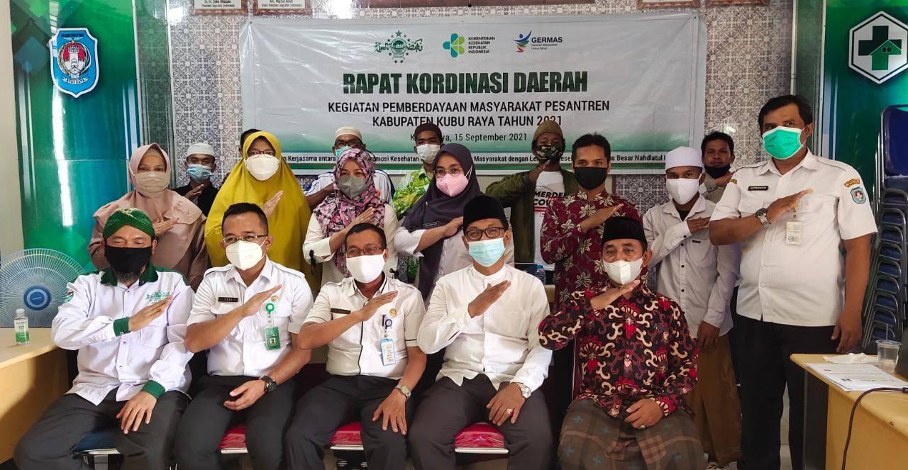 PCNU dan Dinkes Kubu Raya Bentuk Pos Kesehatan Pondok Pesantren