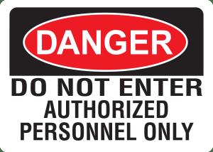 10x14 Plastic Sign Danger Do Not Enter