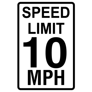 Stock Signs - Speed Limit 10