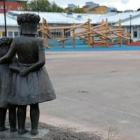 Säbyskolans nya, fina skolgård