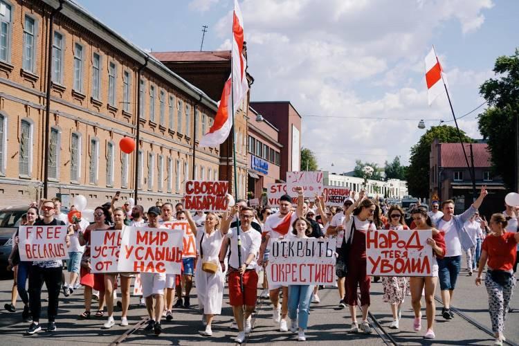 Protests in Belarus 2020. Photo by Artem Podrez.
