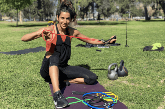 Hana with Resistance Bands