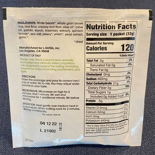 White Bean & Spinach Soup Info