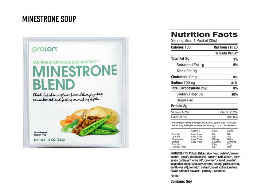 Prolon Minestrone Soup