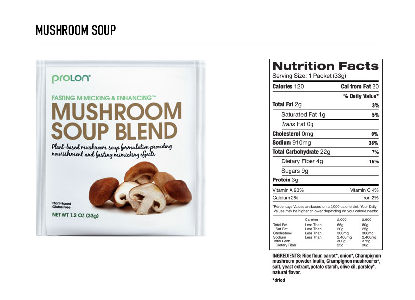 Prolon Mushroom Soup