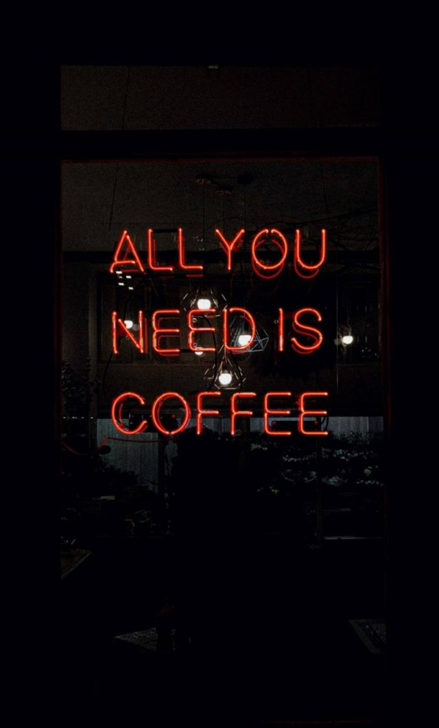 All You Need Is Coffee. Photo by Daria Shevtsova.