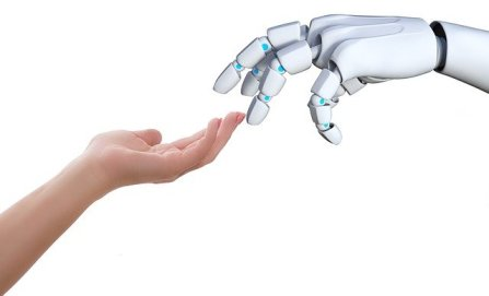 Human-Robot Connection. Image by TheDigitalArtist on Pixabay.