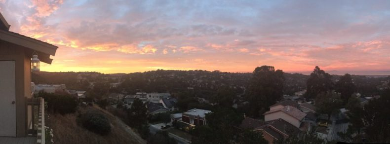 The perks of living on a hill