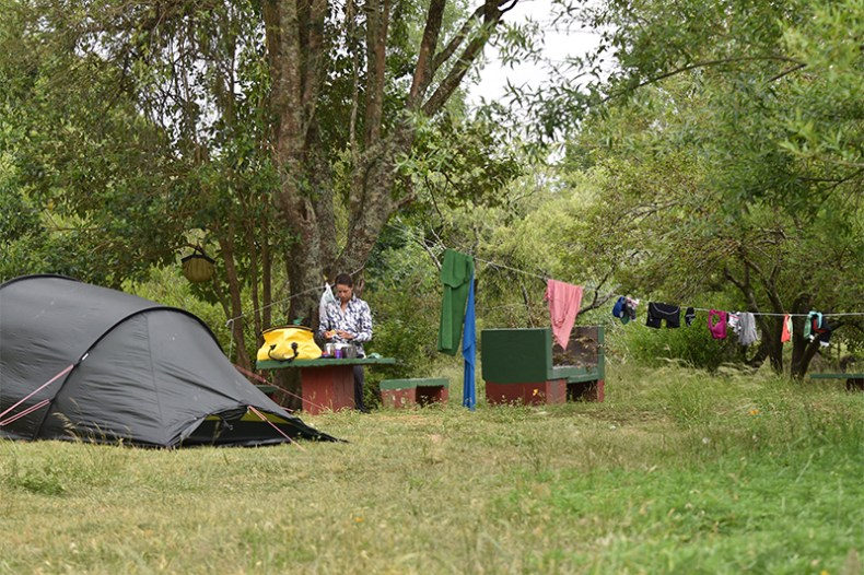 Camping (for free) in Aiguá. From the town's main plaza, just head ~1km west (toward the river).