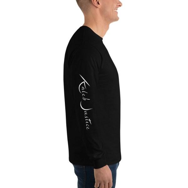 Kaleb Justice Brand Black Long Sleeve T-Shirt Side