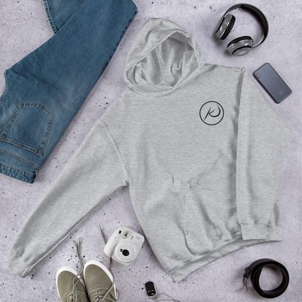 Kaleb Justice Brand Grey Hoodie Product Mockup