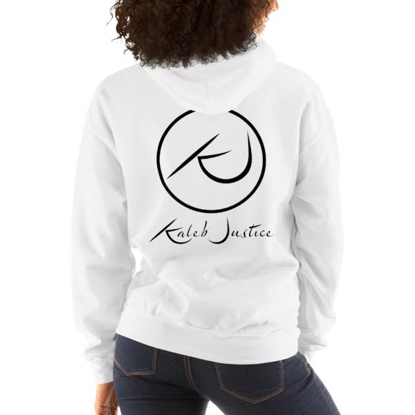 Kaleb Justice Brand White Hoodie Back Womens