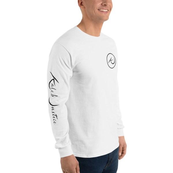 Kaleb Justice Brand White Long Sleeve T-Shirt Angle