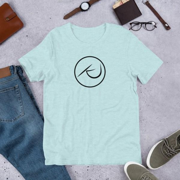 KJ Design Ice Blue T-Shirt Product Mockup