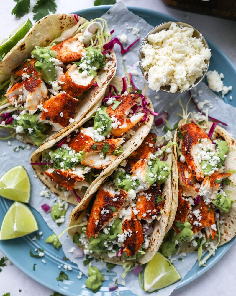 Quick, healthy and so delicious too! These chipotle fish tacos are so easy to make and can easily be prepped ahead of time too!