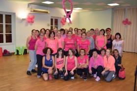 Gymnastique rose à Châtenoy-en-Bresse pour octobre rose